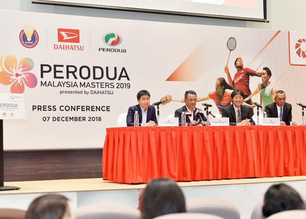 PERODUA & DAIHATSU sponsors MALAYSIA MASTERS 2019 for second