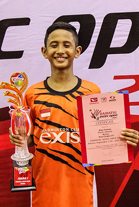 Alwi Farhan from PB Exist (U13 Single Male Winner)