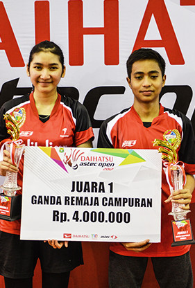 Rahmat Hidayat / Shelandry Vyola from PB Djarum (U17 Mixed Double Winner)